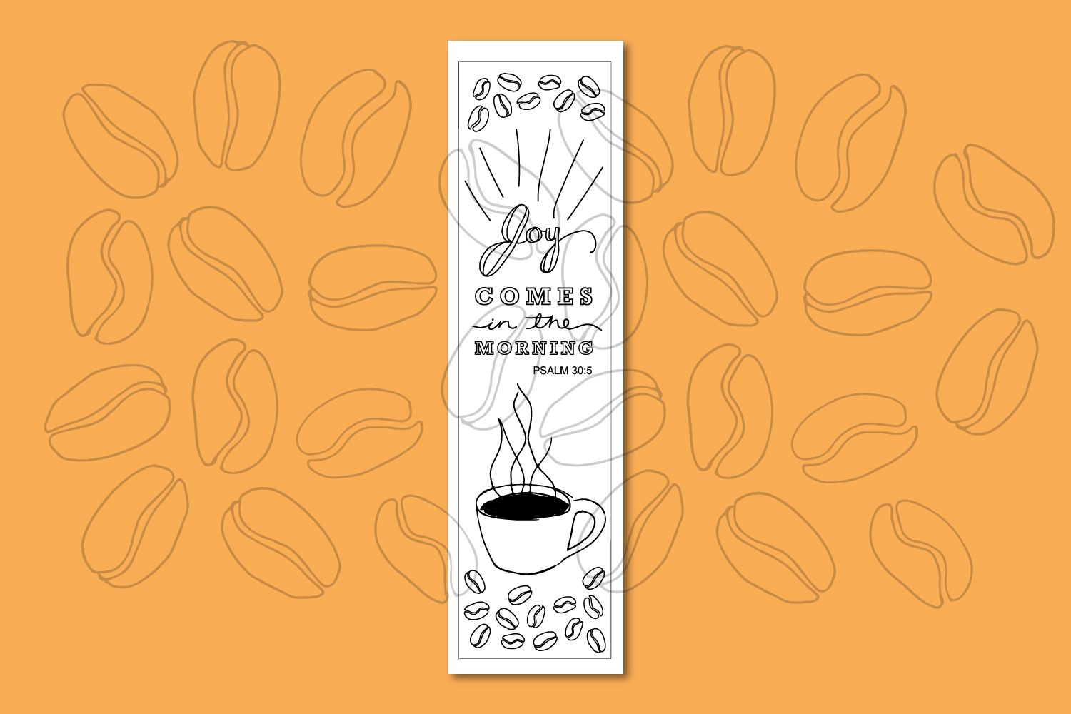 Printable Coloring page Coffee Themed Bible Verses example image 7