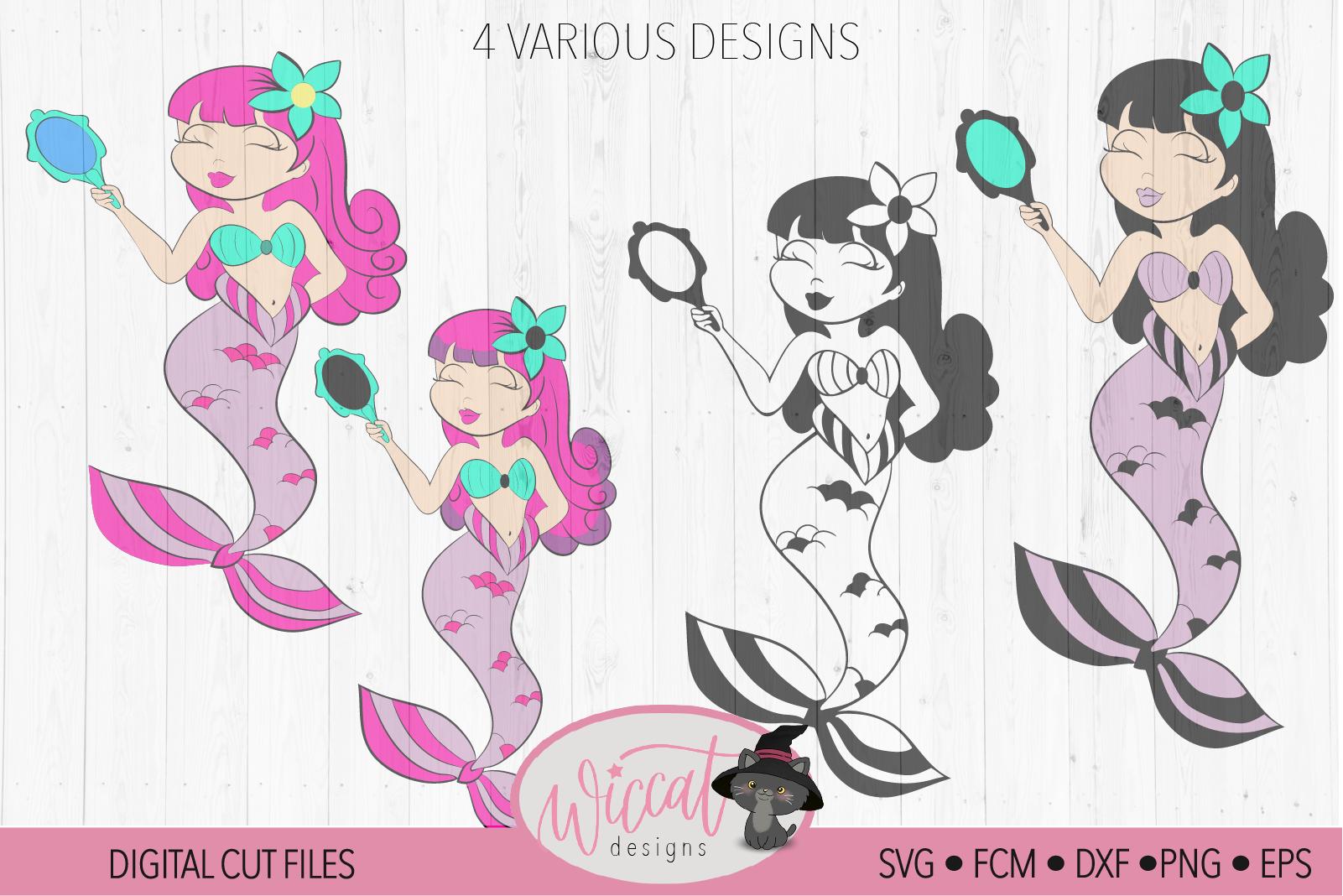 Mermaid with mirror tumbler design example image 3