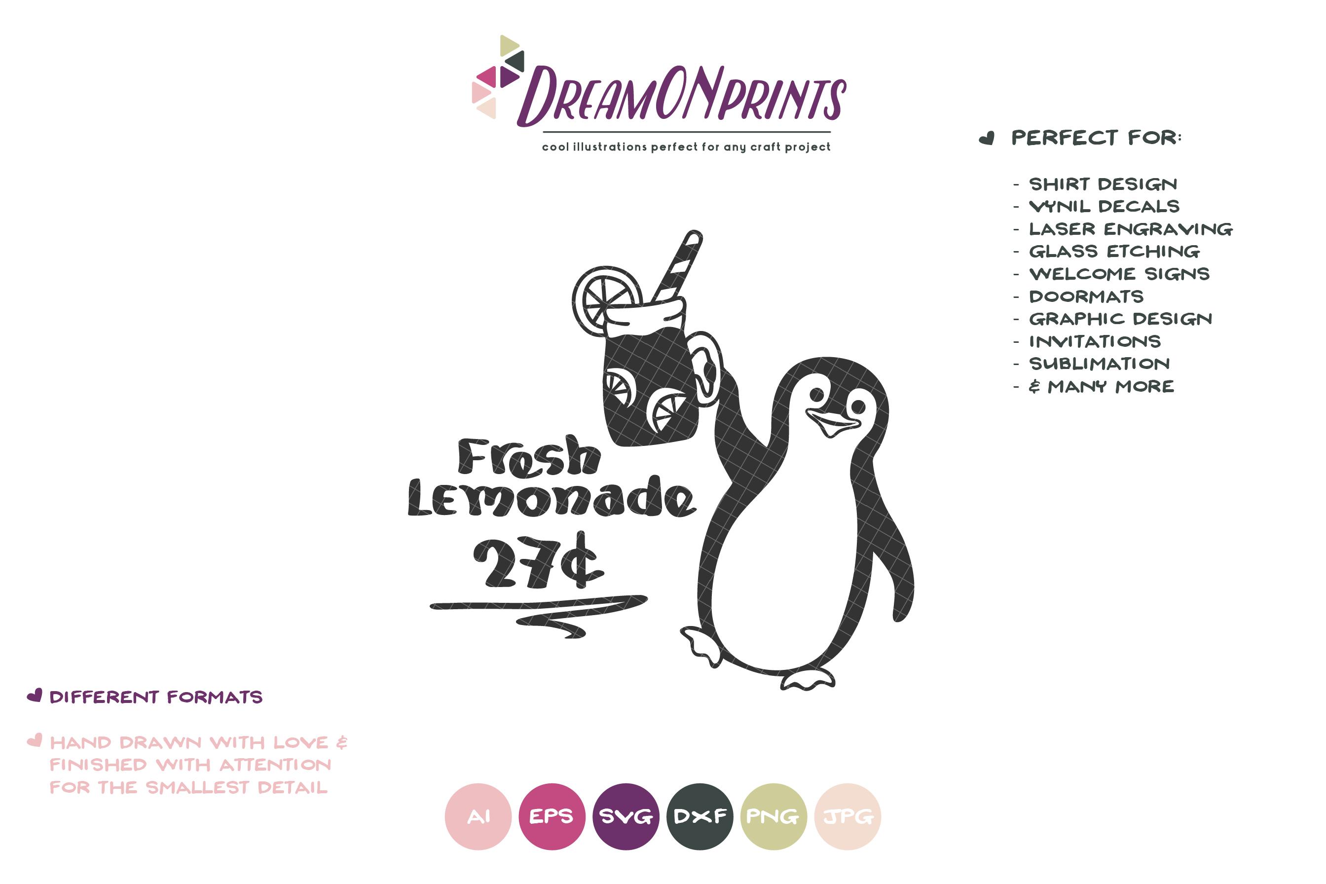 Fresh Lemonade SVG | Penguin Summer SVG | Watermelon example image 2