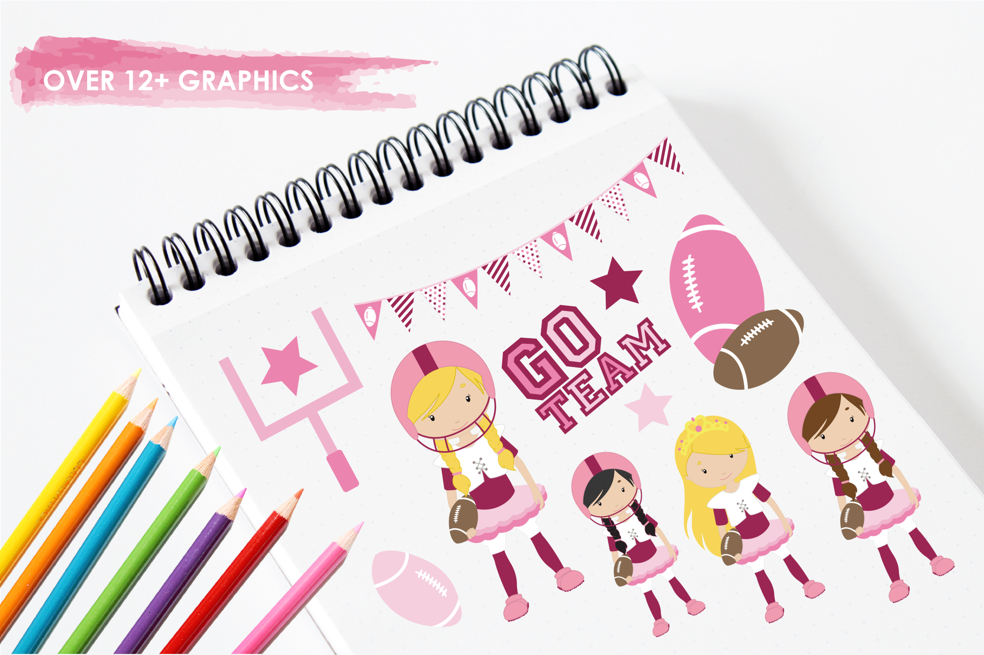 Touchdown Girls graphics and illustrations example image 3