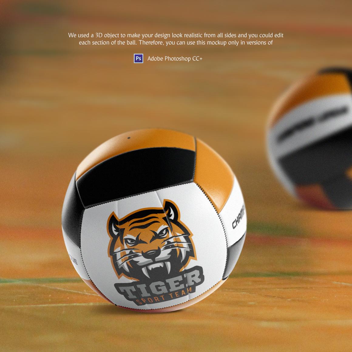 Volleyball Ball Animated Mockup example image 2