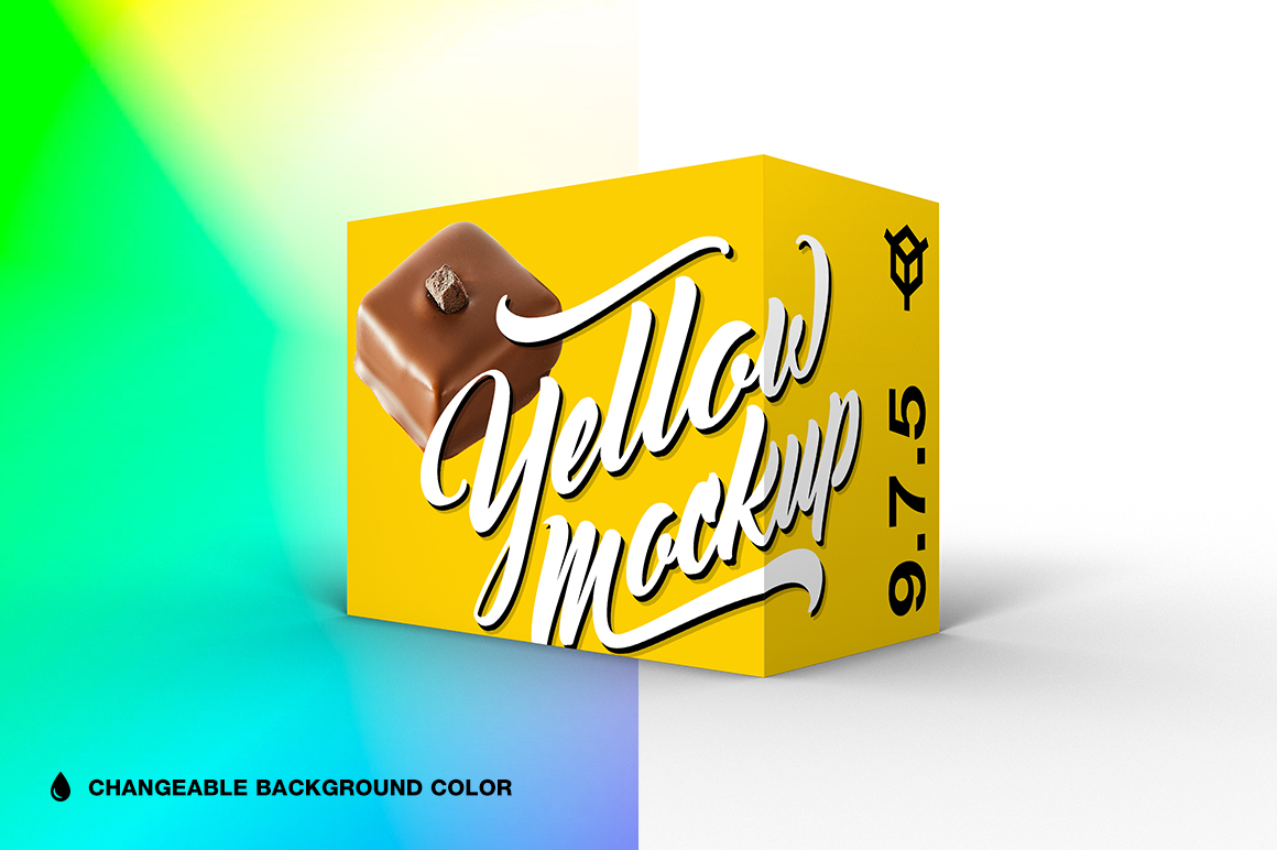 9.7.5 Simple 3D Box Mockup PSD example image 1