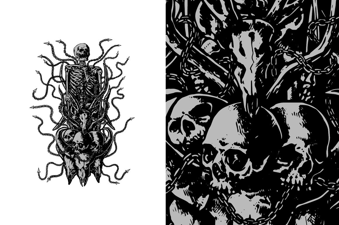 20 VECTOR skull illustration example image 6