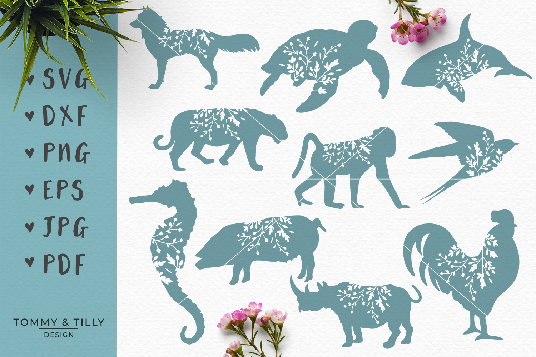 Animal Silhouettes Mega Bundle - SVG DXF PNG EPS JPG PDF Cut example image 2