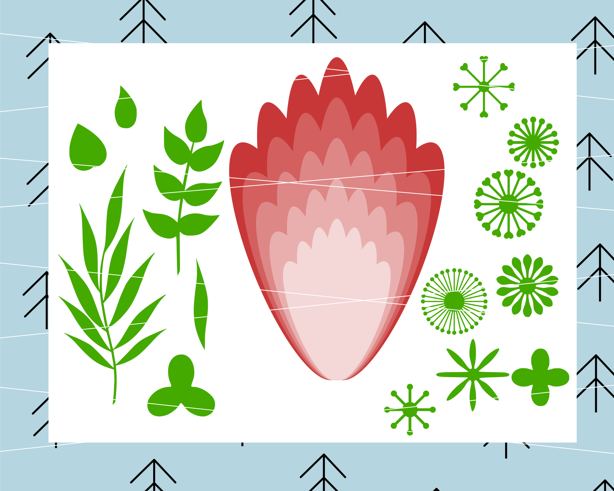 Giant Paper Flower svg example image 1