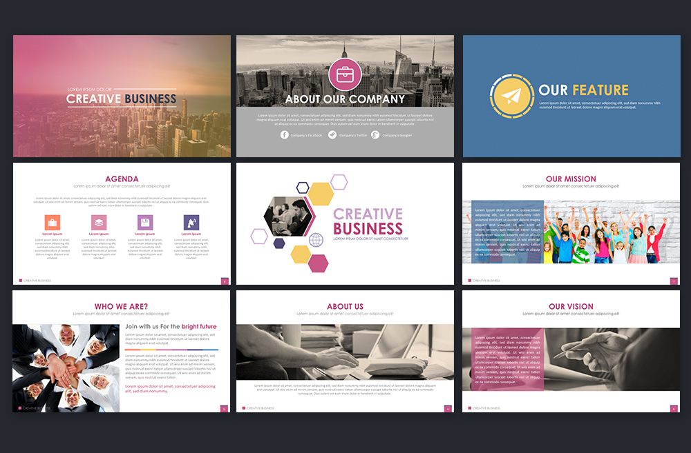 Creative Business Powerpoint Template example image 6