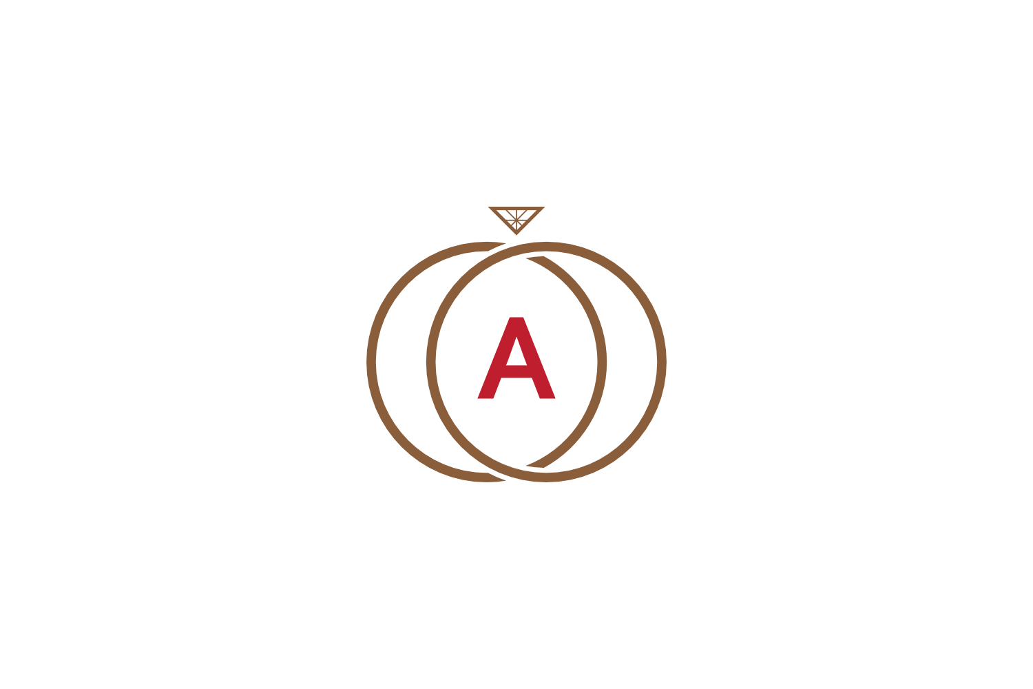 a letter ring diamond logo example image 1
