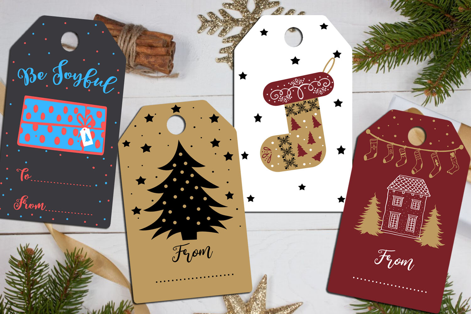 Christmas Cards-Gift Tags-Labels/Holiday Cards Tags Labels example image 8