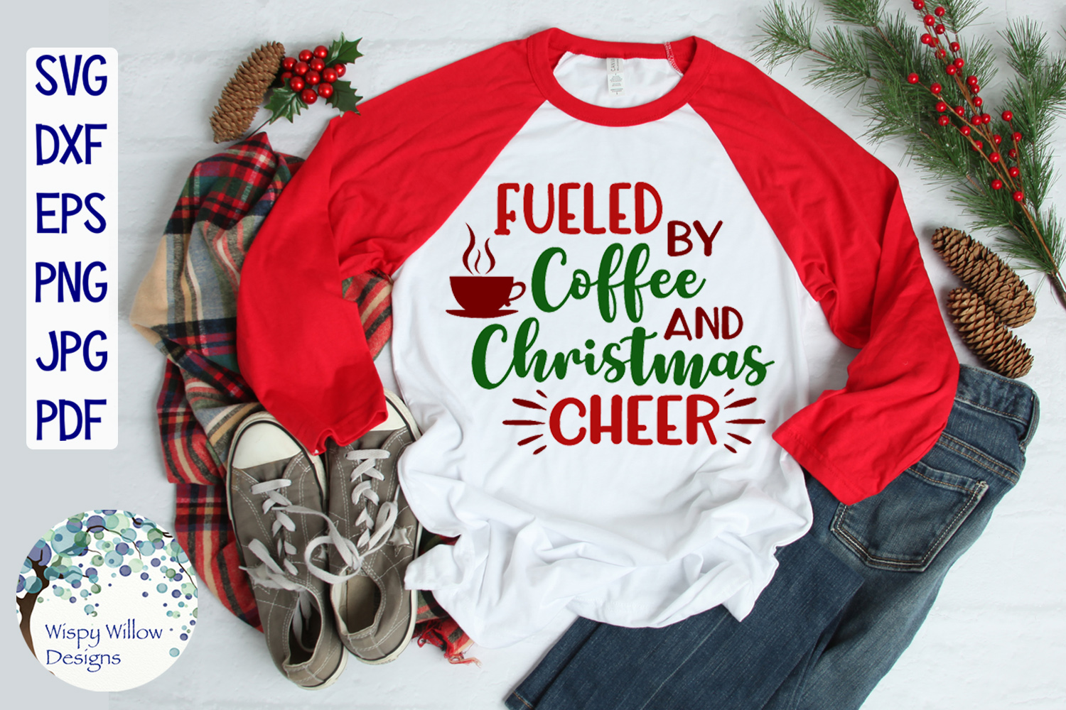 Fueled By Coffee and Christmas Cheer | Christmas SVG example image 2
