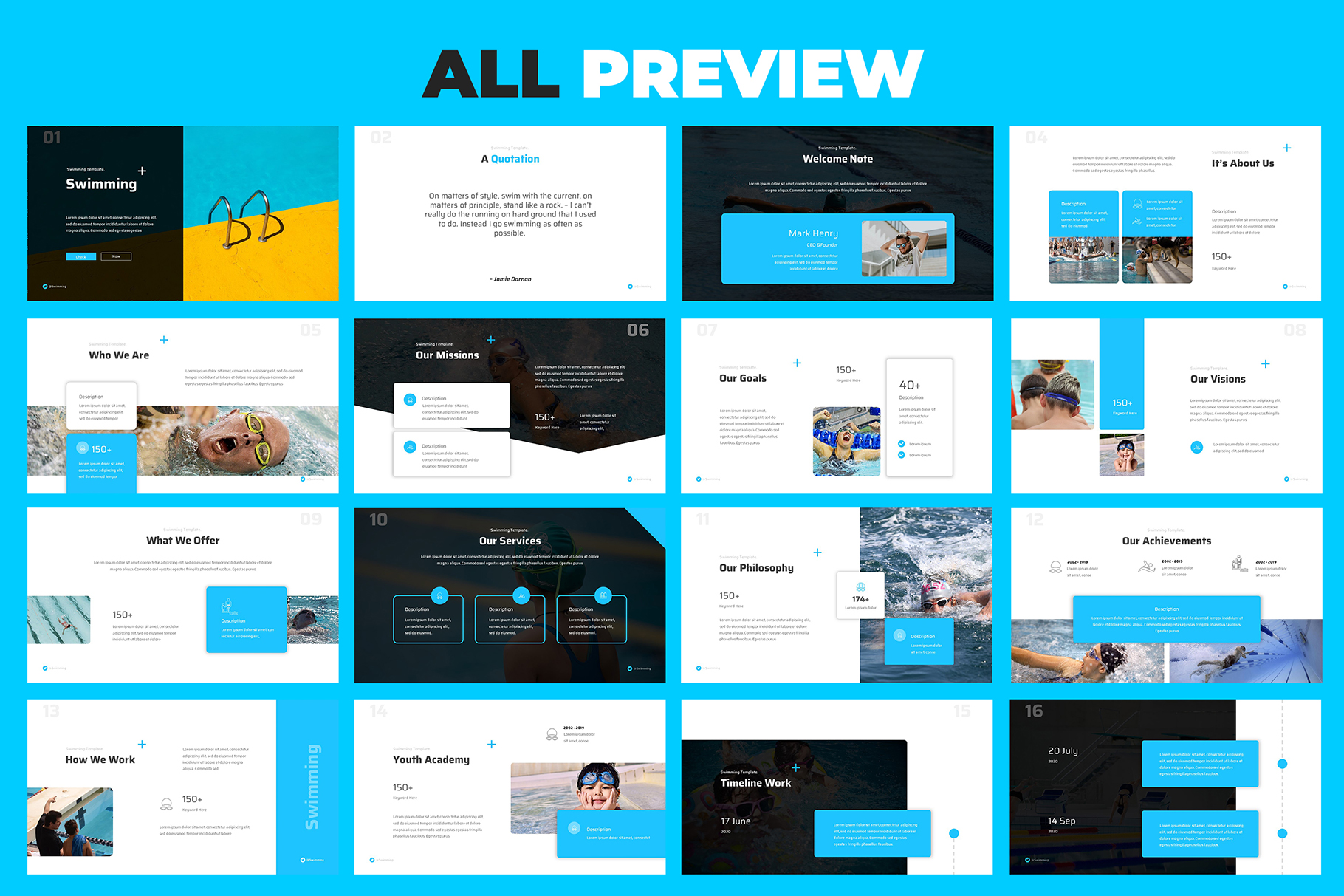 Swimming Powerpoint Presentation example image 5
