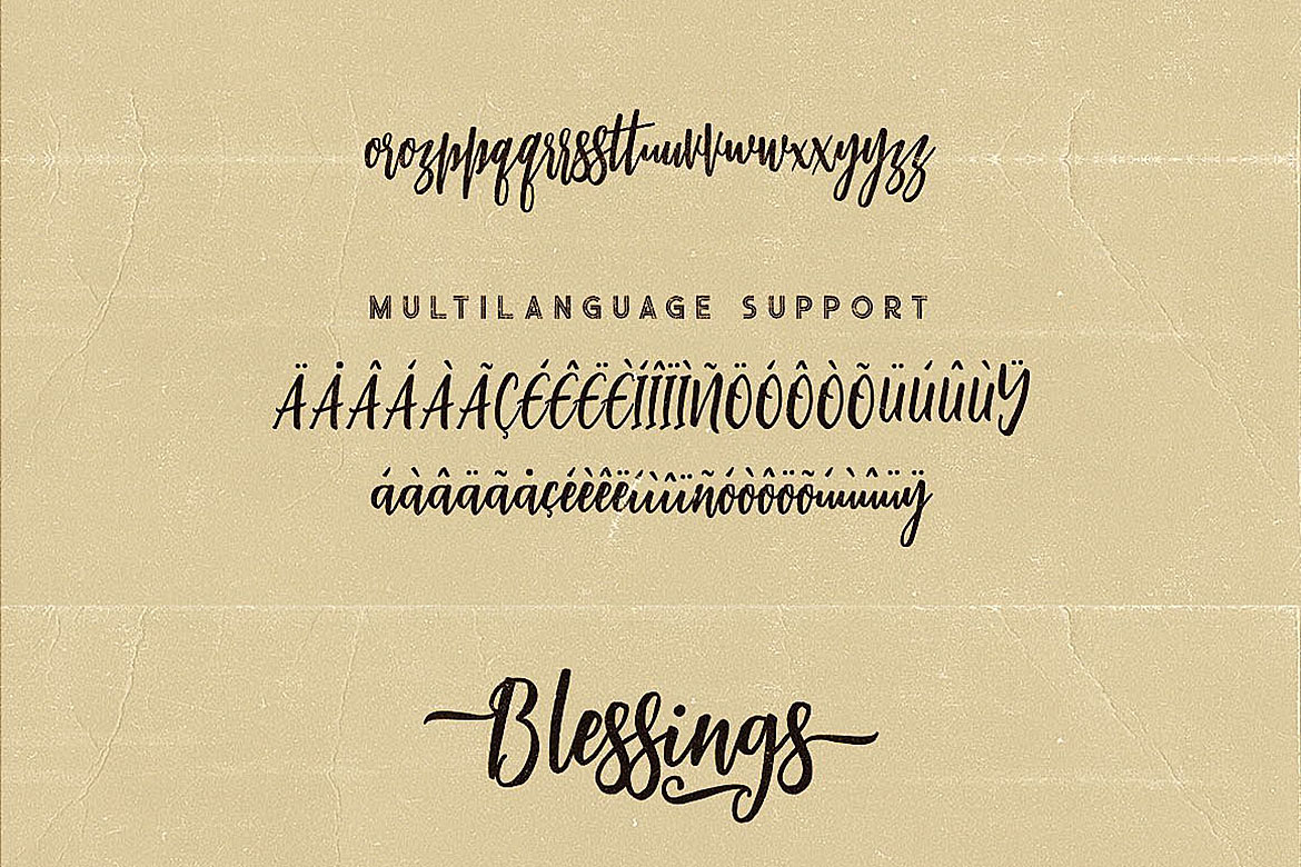 Blessings Script Font example image 8