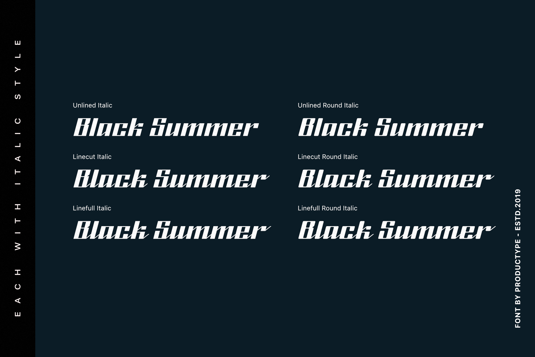 Black Summer Font Family example image 4