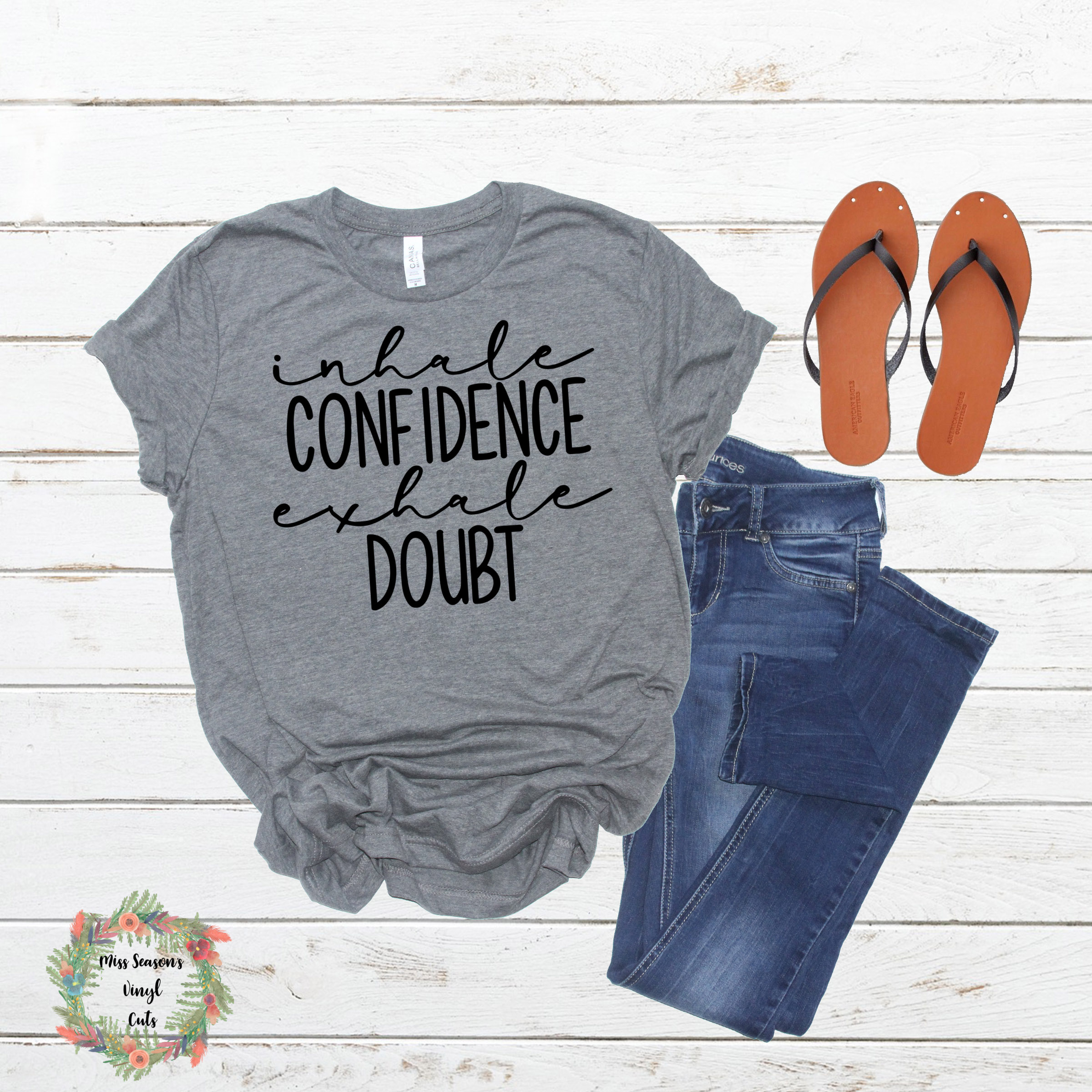Inhale Confidence Exhale Doubt SVG Png Dxf eps example image 3