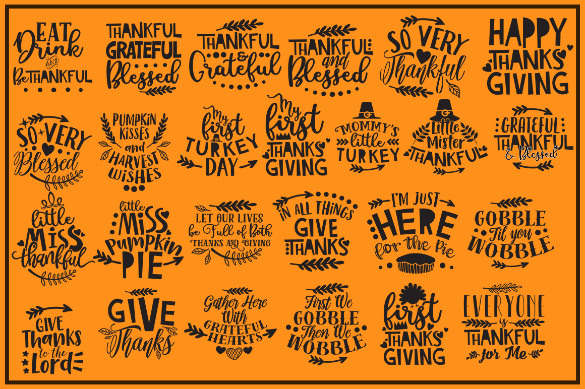 Thanksgiving quotes Mega Bundle example image 2