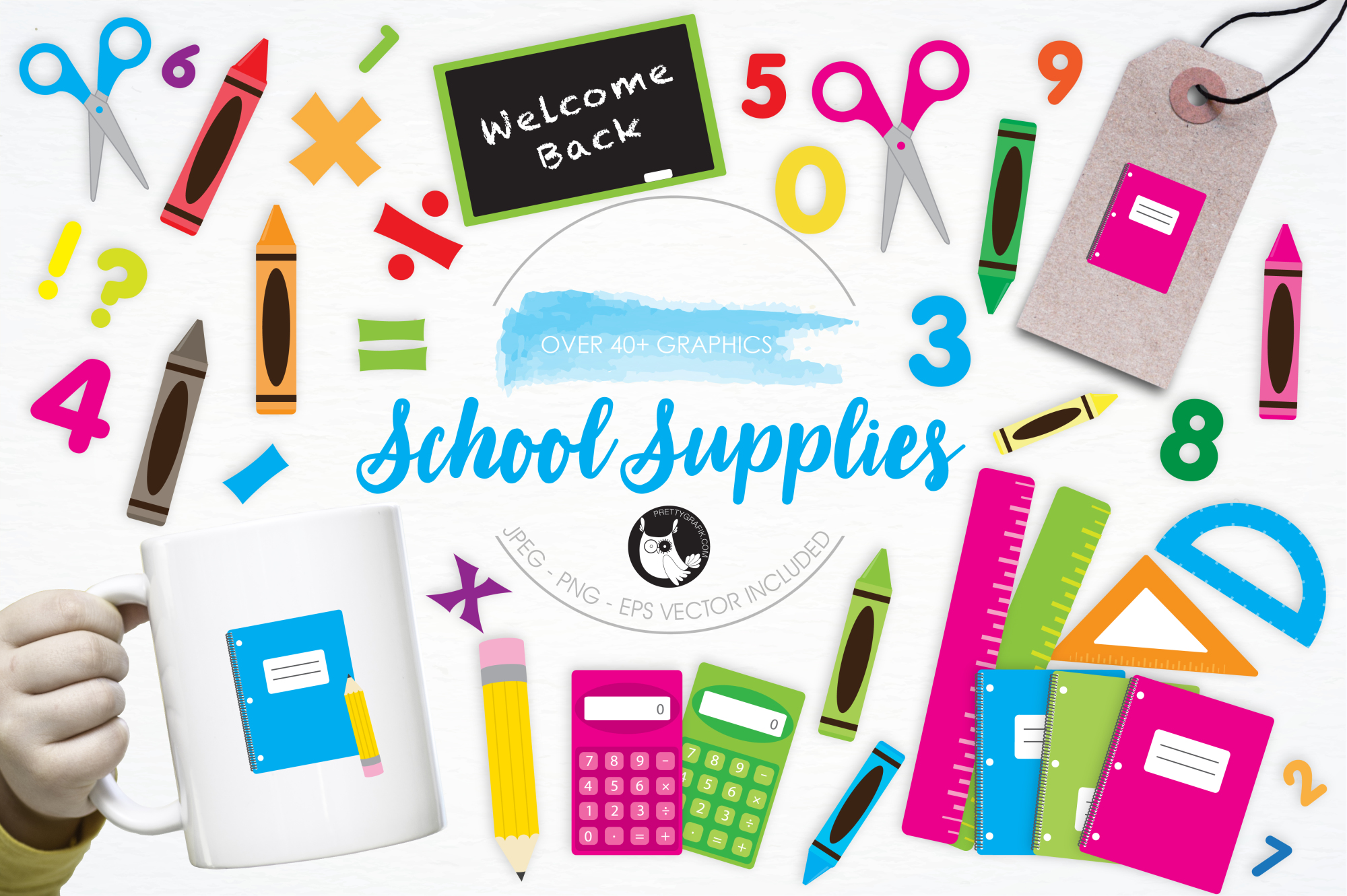 School Supplies graphics and illustrations example image 1