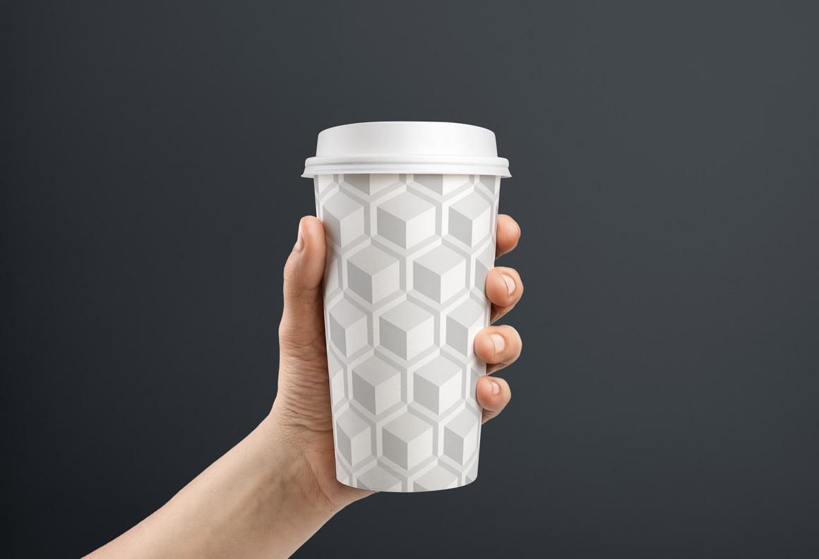 Geometric white 3d seamless textures example image 8