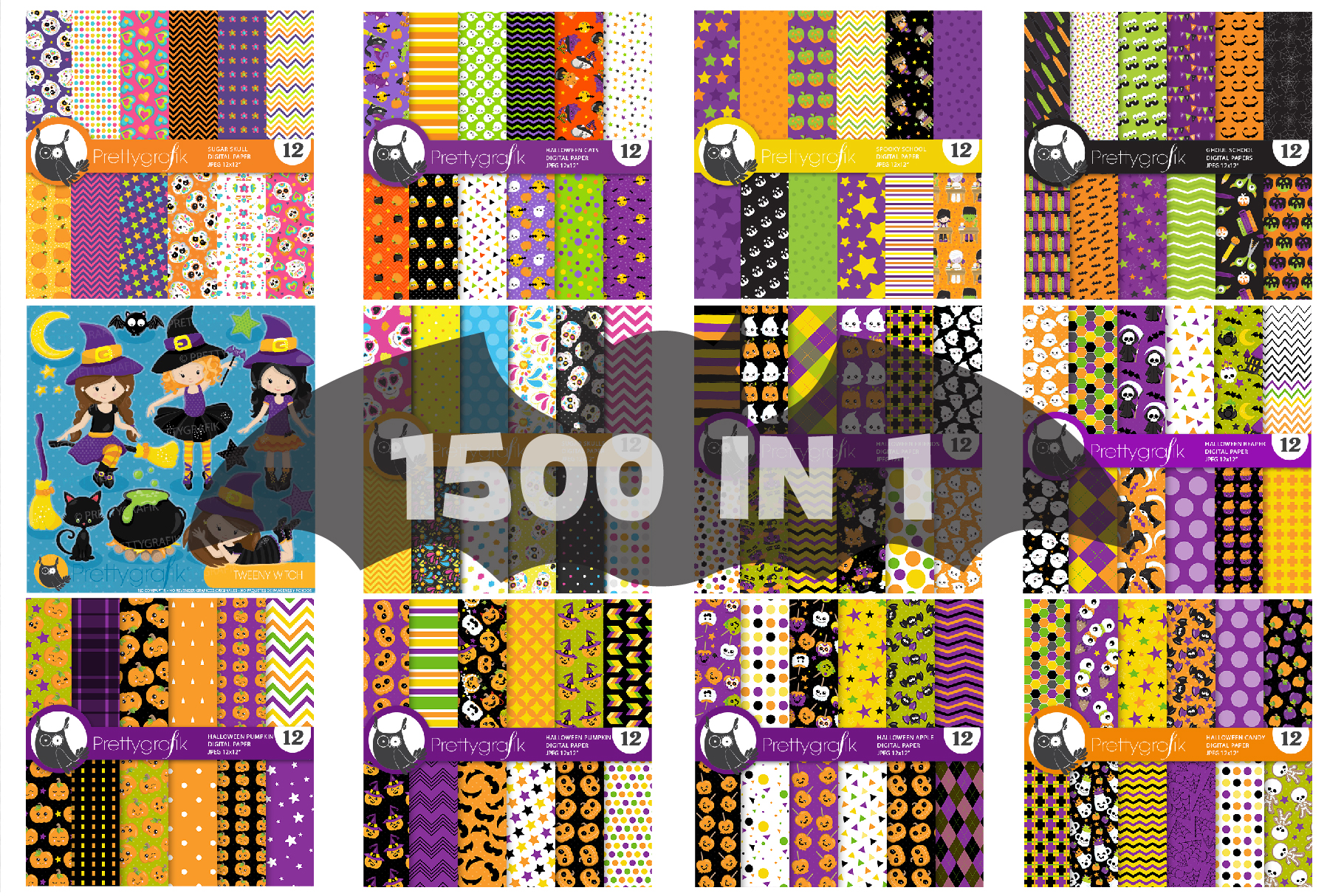 1500 Graphics - MEGA Halloween Bundle - 98OFF example image 6