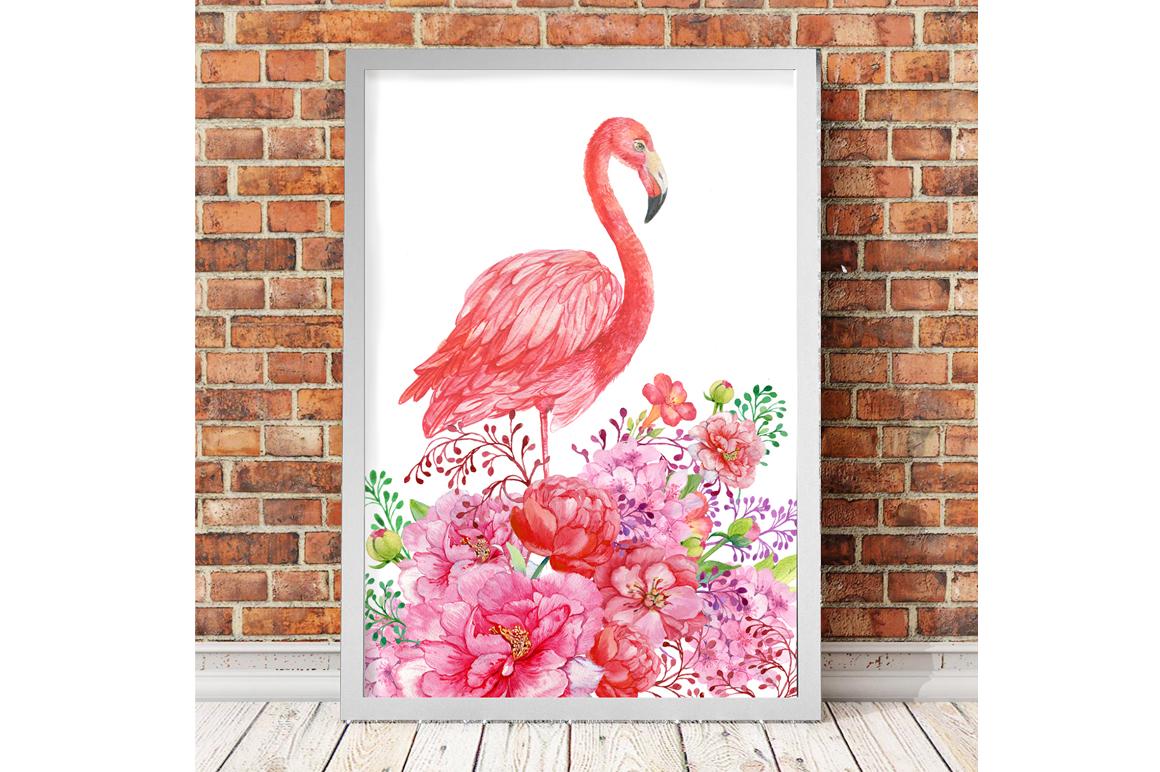 Flamingo seamless patterns example image 8