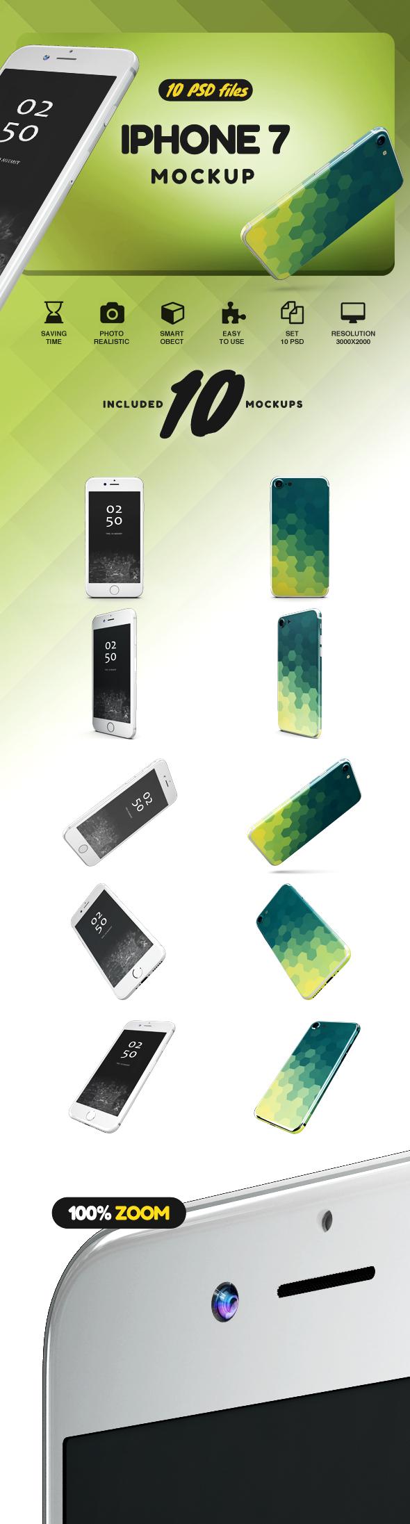 iPhone 7 Jet Black Edition Mockup example image 2