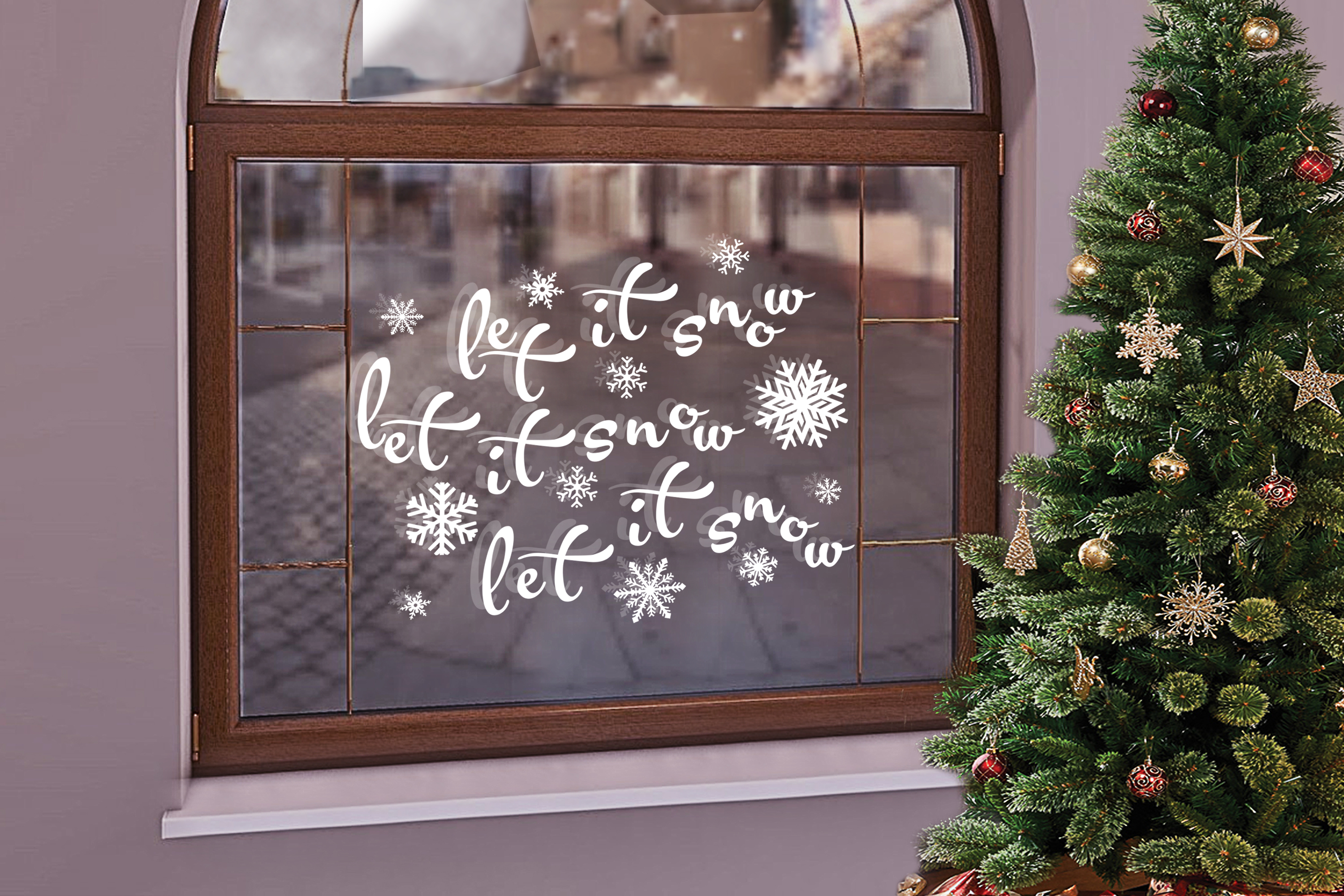 Christmas svg Let it snow svg Winter svg Snowflake svg example image 2