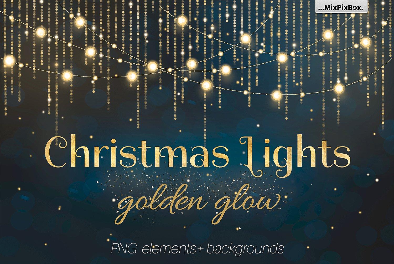 Christmas Lights Golden Glow example image 1
