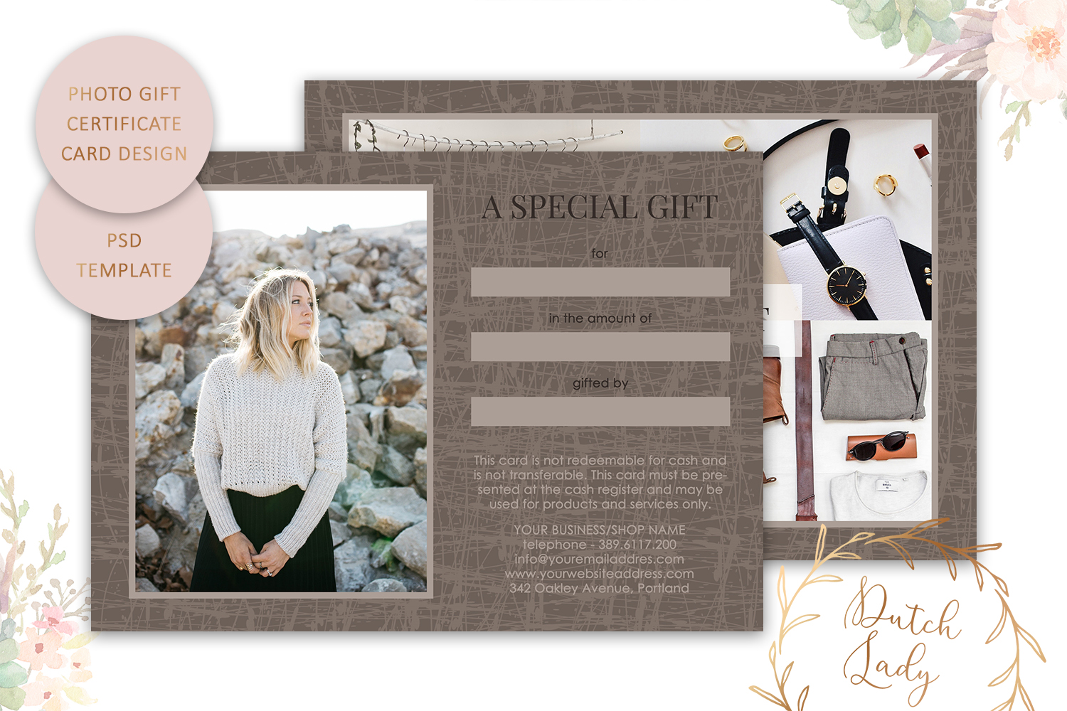 Photo Gift Card Template for Adobe Photoshop - #29 example image 2