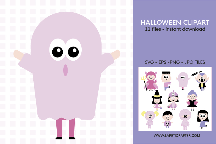 Cute Halloween clip art, halloween kids, halloween party png example image 4