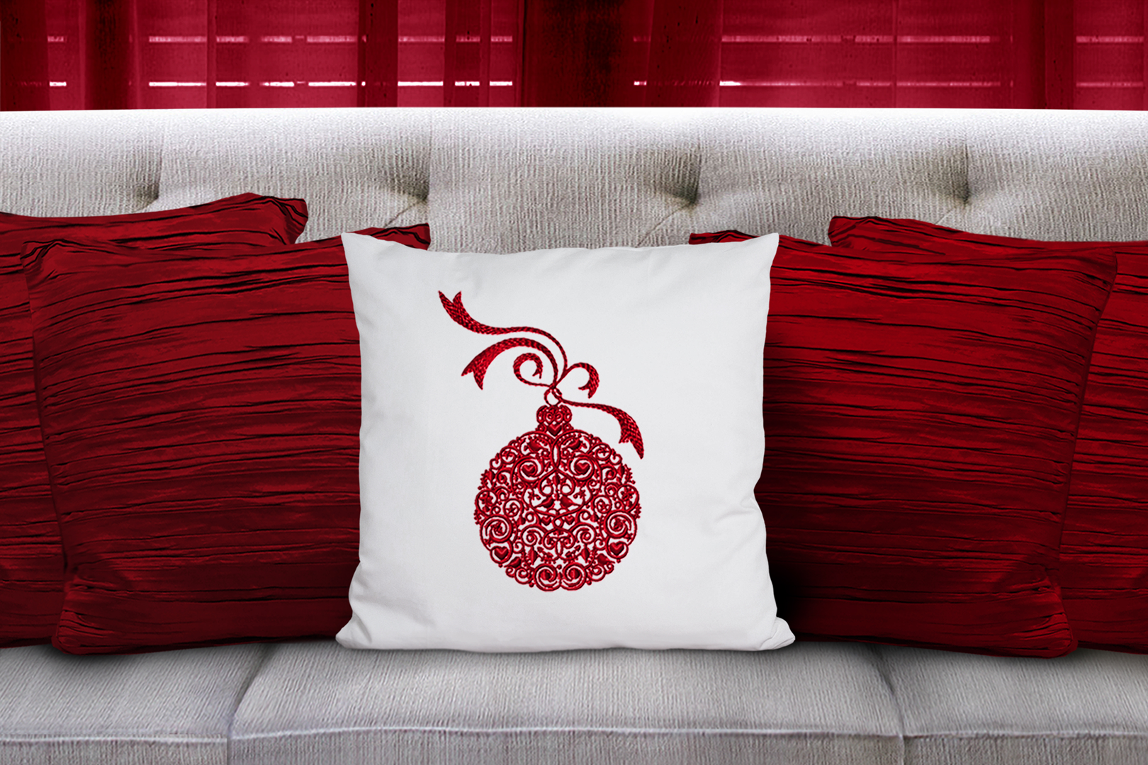 Christmas Pillow Mockup Bundle, Pillows Mock Up Bundle, JPG example image 6