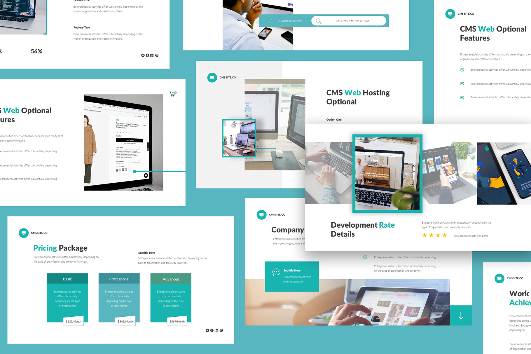 CMS Website Design And Proposal Powerpoint example image 3