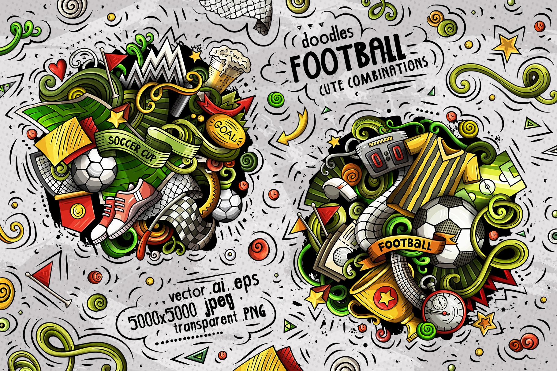Soccer Cartoon Doodle Big Pack example image 3