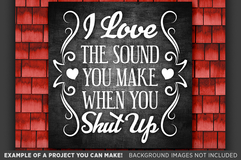 I Love The Sound You Make When You Shut Up SVG File - 1515 example image 3
