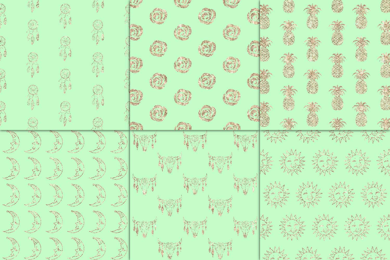 Mint & Copper Digital Paper example image 2