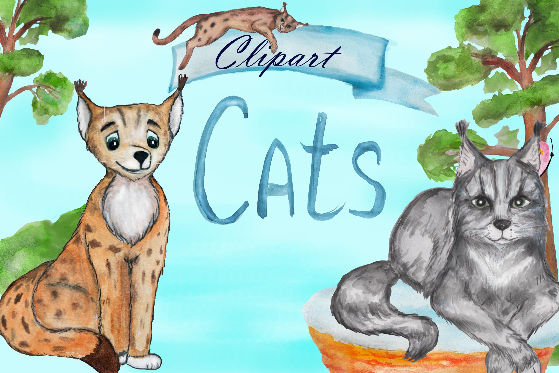 Grumpy cat clipart, savannah cat, lynx clipart, Maine coon example image 7