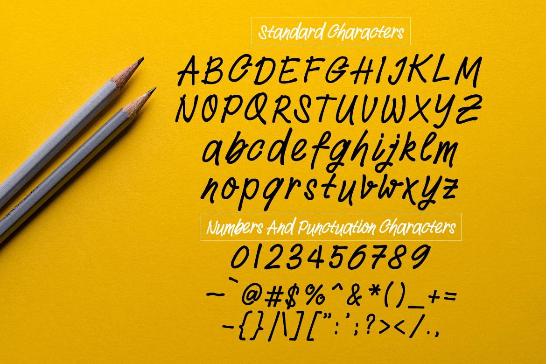 Withdrew - Modern Script example image 2