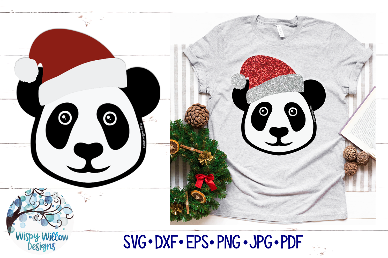 Santa Panda SVG   Christmas Panda SVG Cut File example image 1