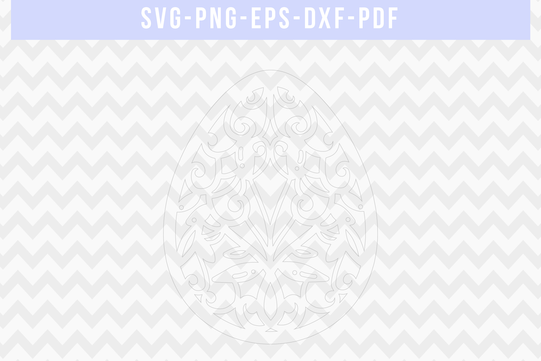 Easter Egg Papercut Template, Spring Decor, SVG, PDF, DXF example image 2