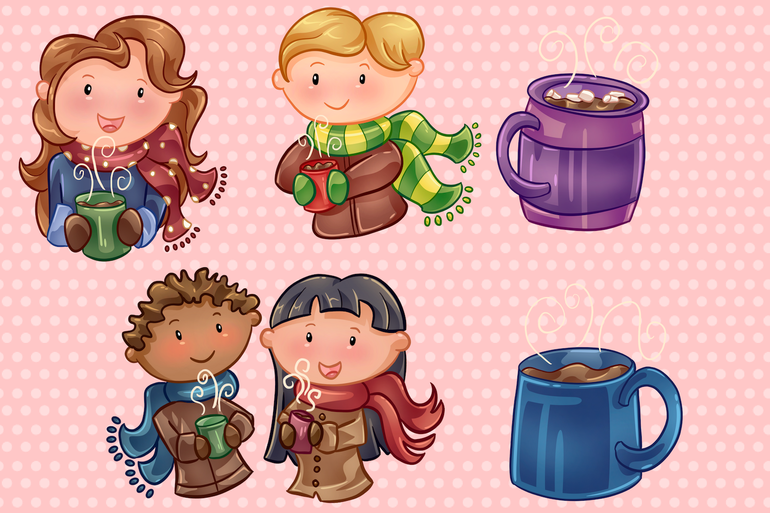 Winter Hot Cocoa Time Illustrations example image 2