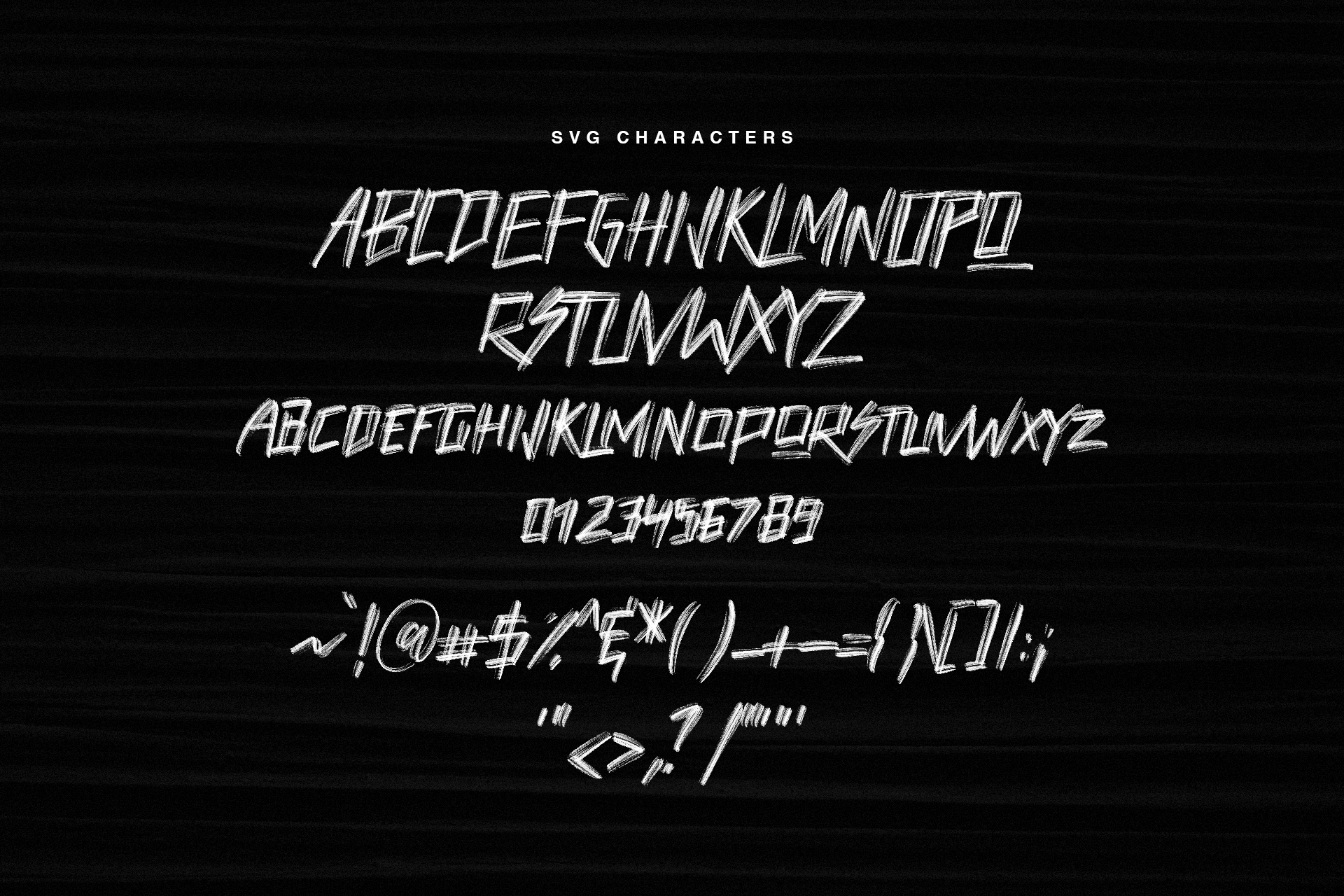 Haswell SVG Brush Font example image 9