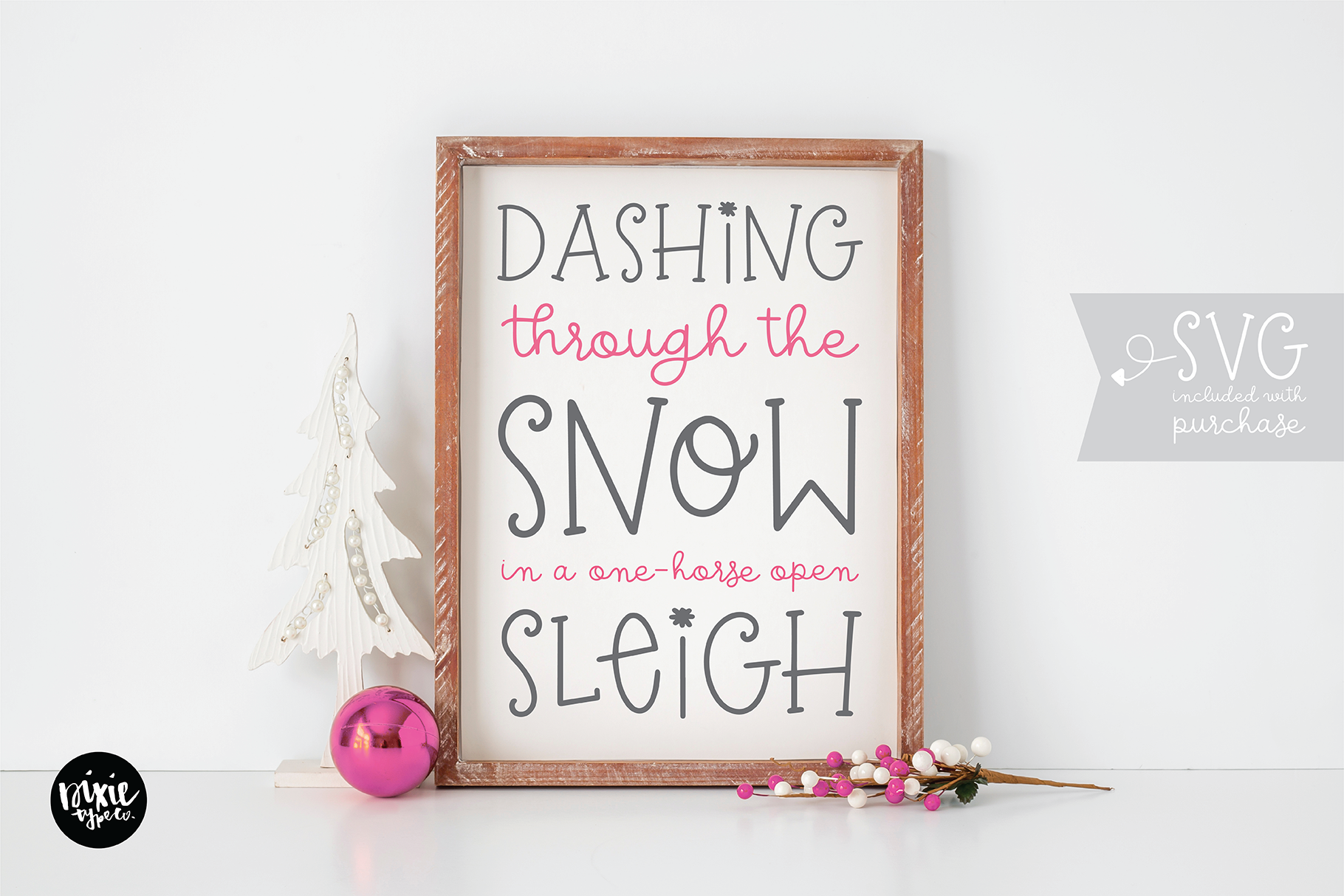 CHRISTMAS MISTLETOE a Script - Serif Christmas Font Duo example image 8