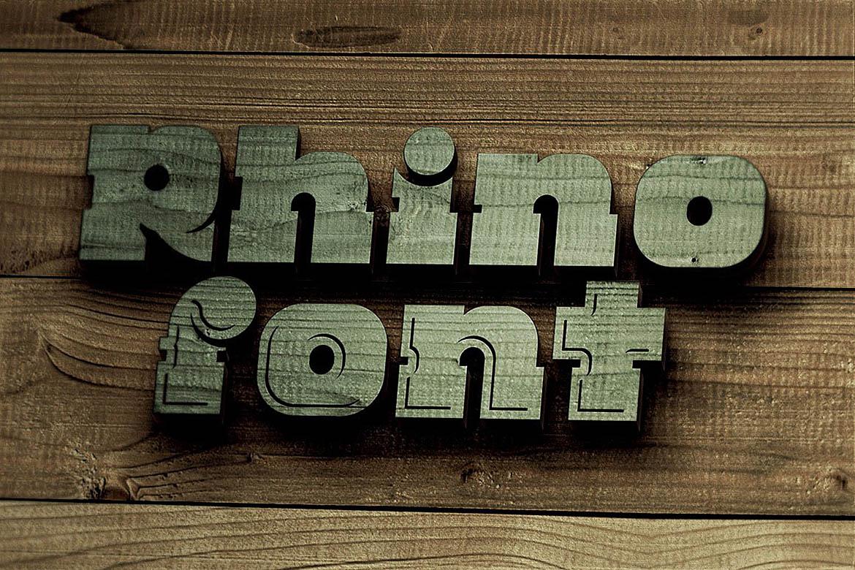 Rhino - Display Font example image 5