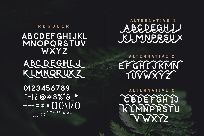 Thousand Lake - Handmade Font example image 10