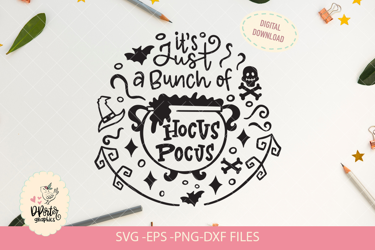 its just a bunch of hocus pocus, cameo cricut svg file example image 2