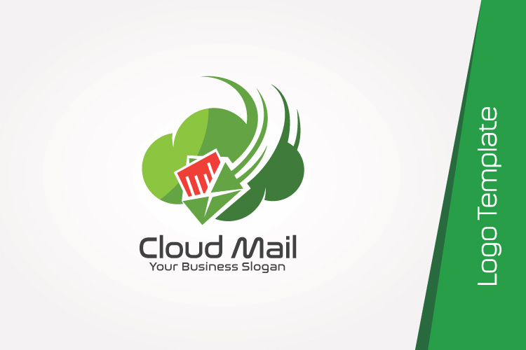 Cloud Mail Logo Template example image 3