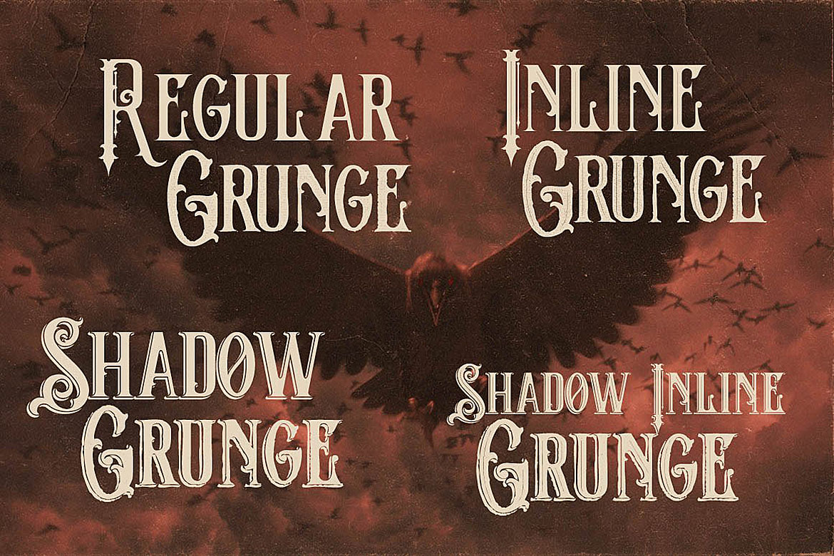 The Crow - Vintage Style Font example image 2