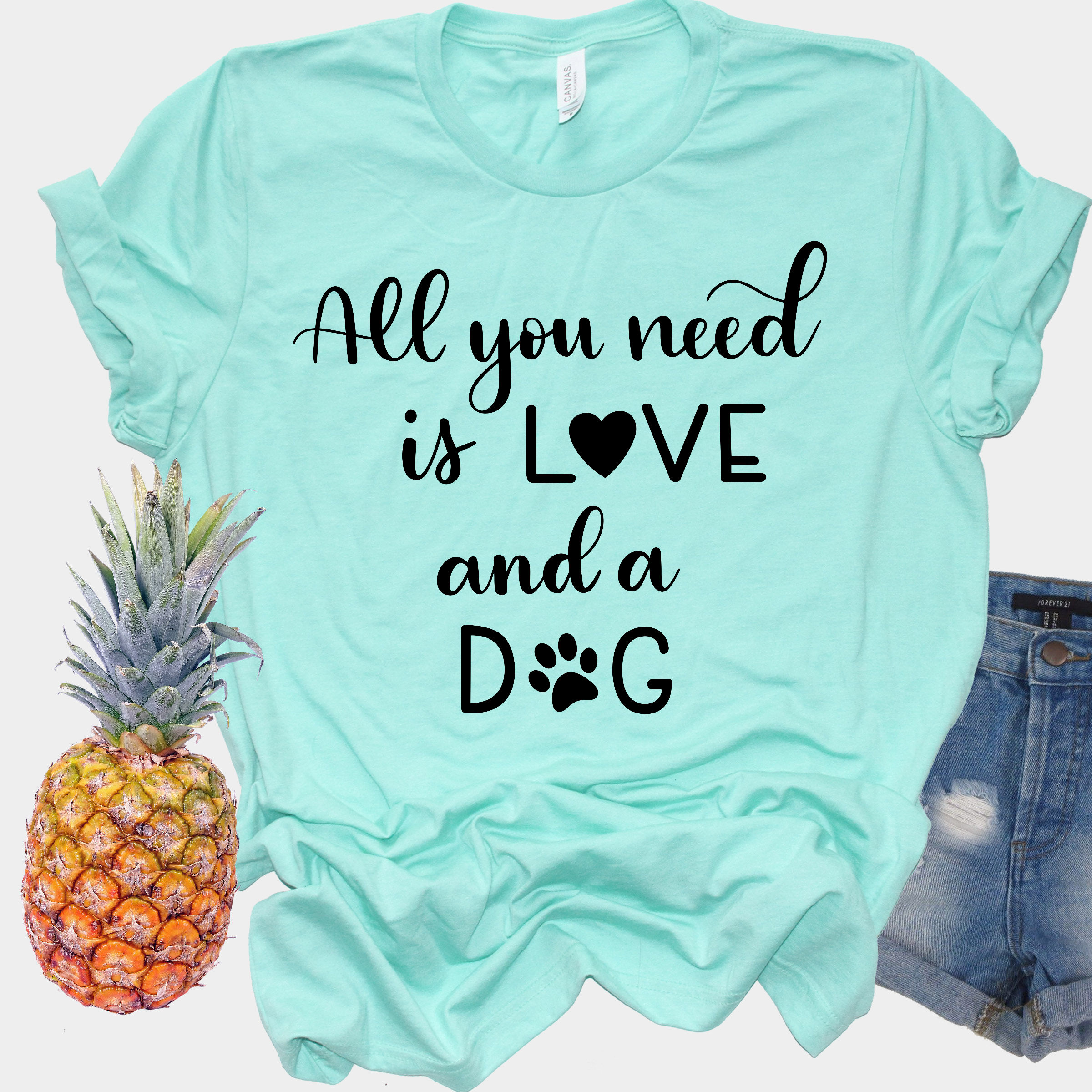 Dog SVG - All you need is love and a dog, Handlettered example image 2