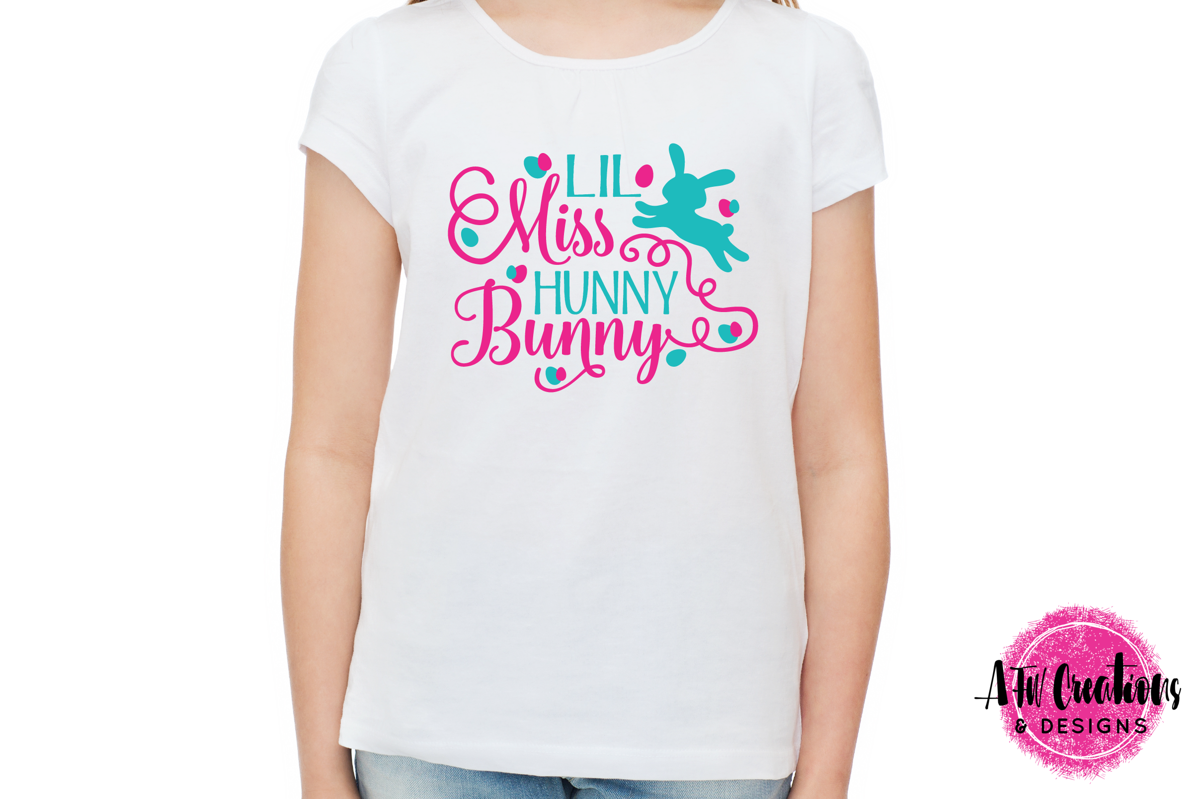 Lil Miss Hunny Bunny - SVG, DXF, EPS Cut Files example image 2
