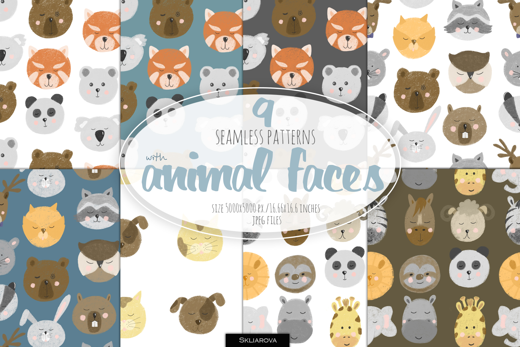 Patterns with Animal faces example image 1