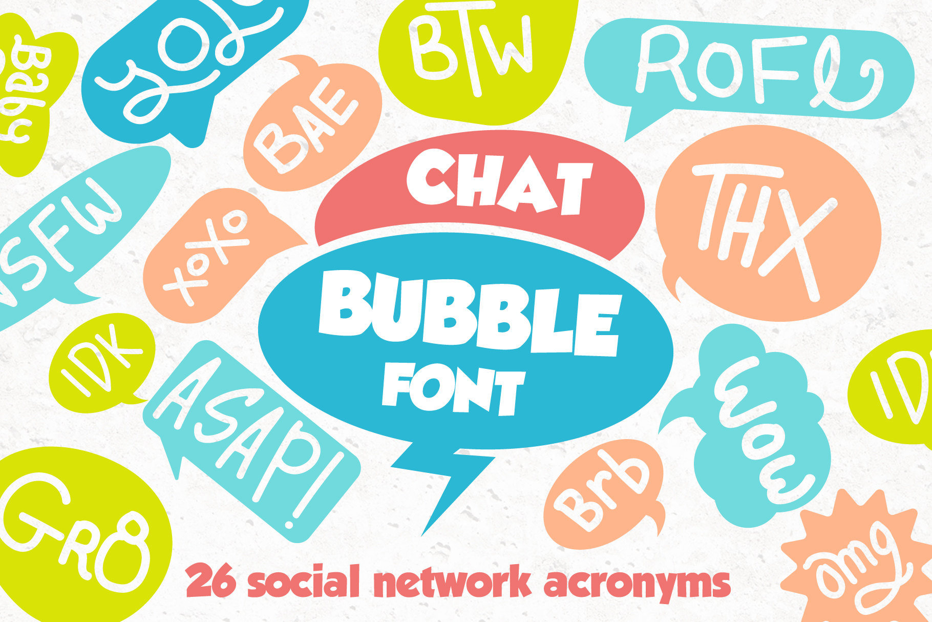 Chat Bubble Font example image 1