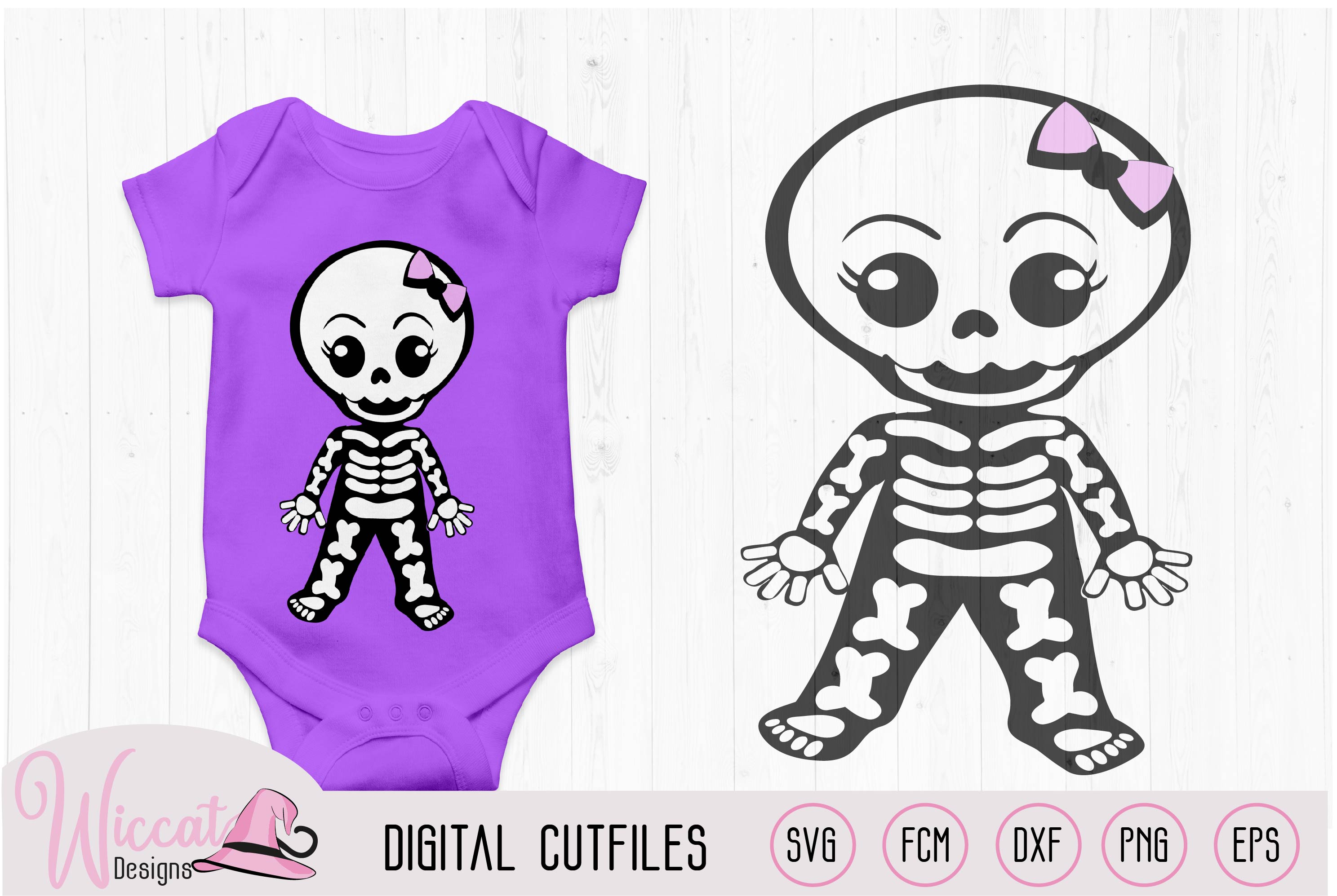 Cute skeleton bundle, boy skeleton, girl skeleton, example image 4