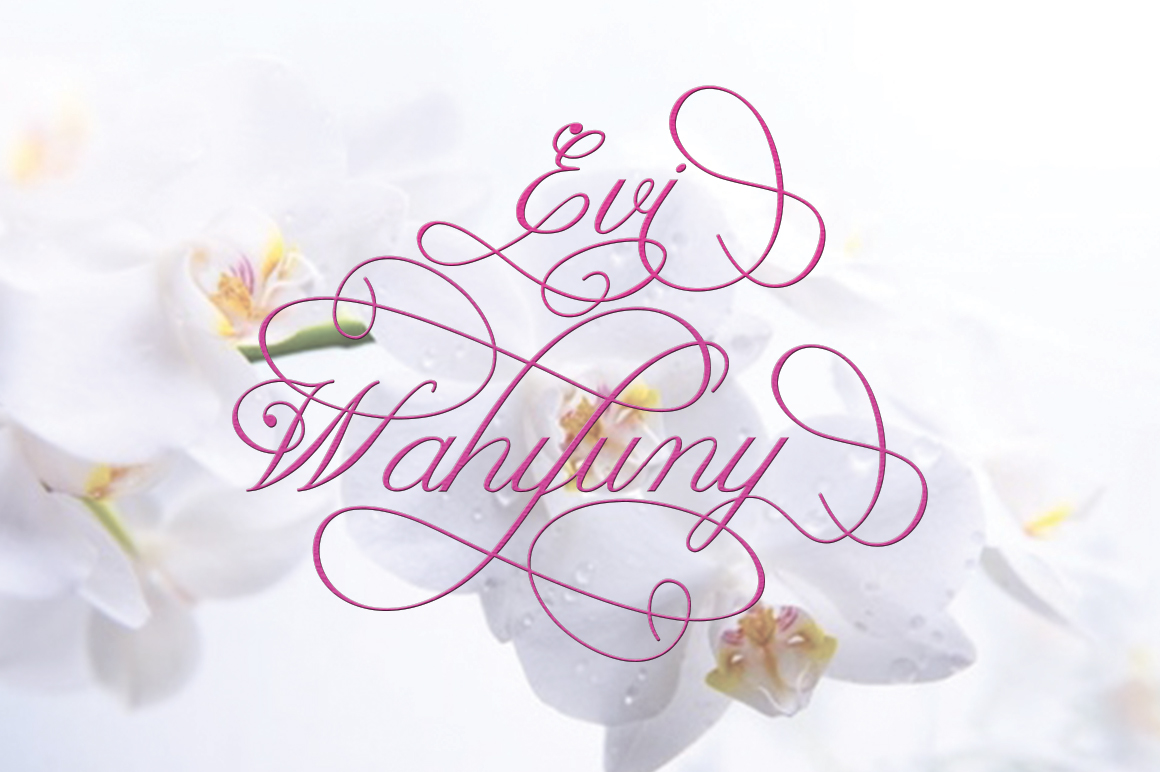 Claudia Calligraphy example image 12